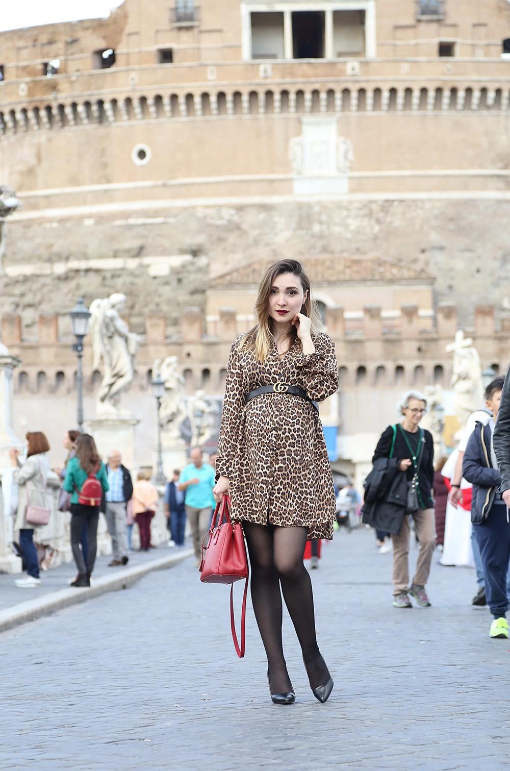 abito leopardato come indossarlo
